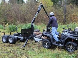 Vyvážečka pro pracovní čtyřkolky a malotraktory