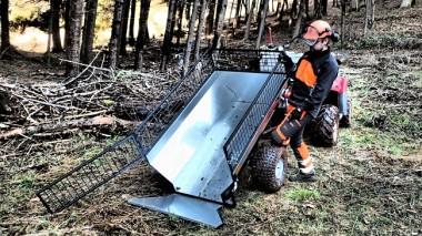 Sklopný vozík za čtyřkolku nebo malotraktor