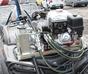 Benzínový agregát pro přívěsy za čtyřkolky