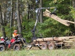 ATV vyvážečka za čtyřkolku