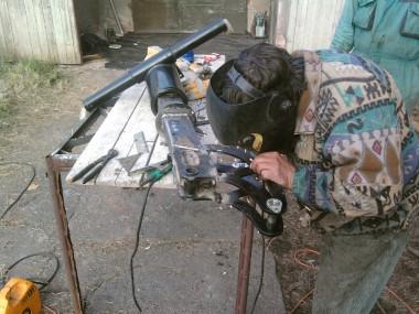 Zlomení hydraulické ruky
