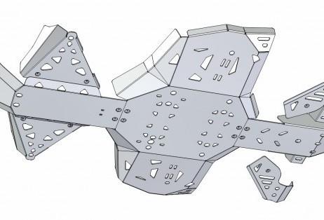 Hliníkové kryty podvozku pro čtyřkolku