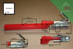 Rozměry závěsného zařízení pro přívěsy za čtyřkolky