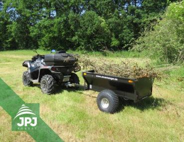 Sklopný ATV vozík Farmář s pracovní čtyřkolkou
