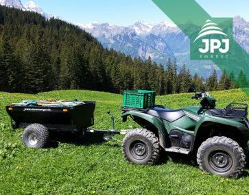 Vozík za čtyřkolku Farmář dodaný do Švýcarska