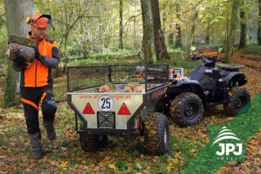 Vozík za ATV Zahradník s praconí čtyřkolkou